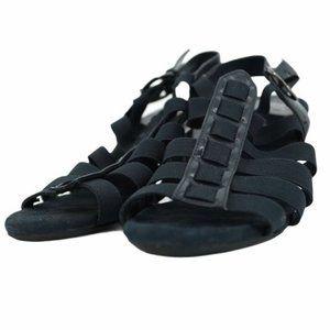 A2 Aerosoles Black strappy heeled sandals size 8